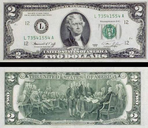 2 доллара одной купюрой цена украина реальная стоимость бумажных денег