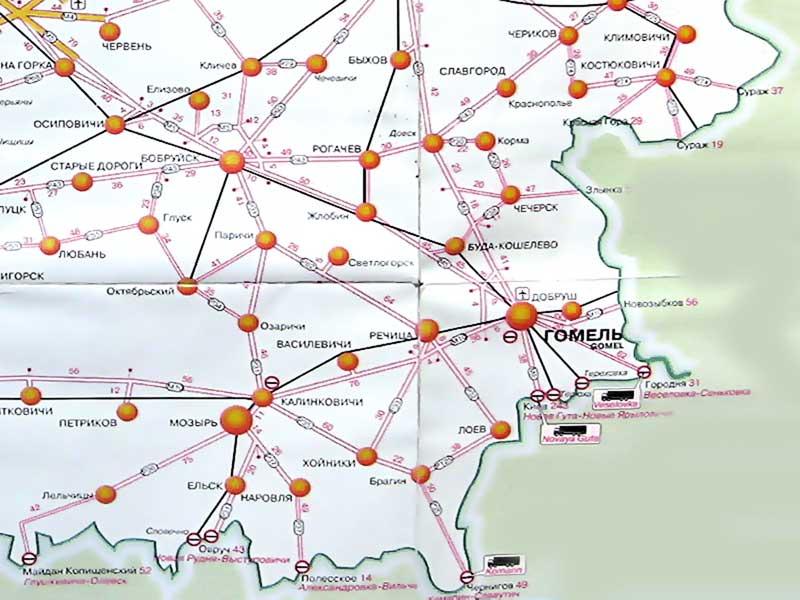 гомельская область. карта
