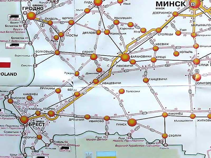 Roadgis4 Карта Автомобильных Дорог Беларуси