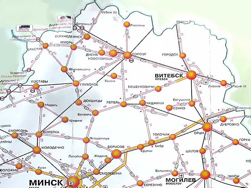 Карта Витебска и Витебской