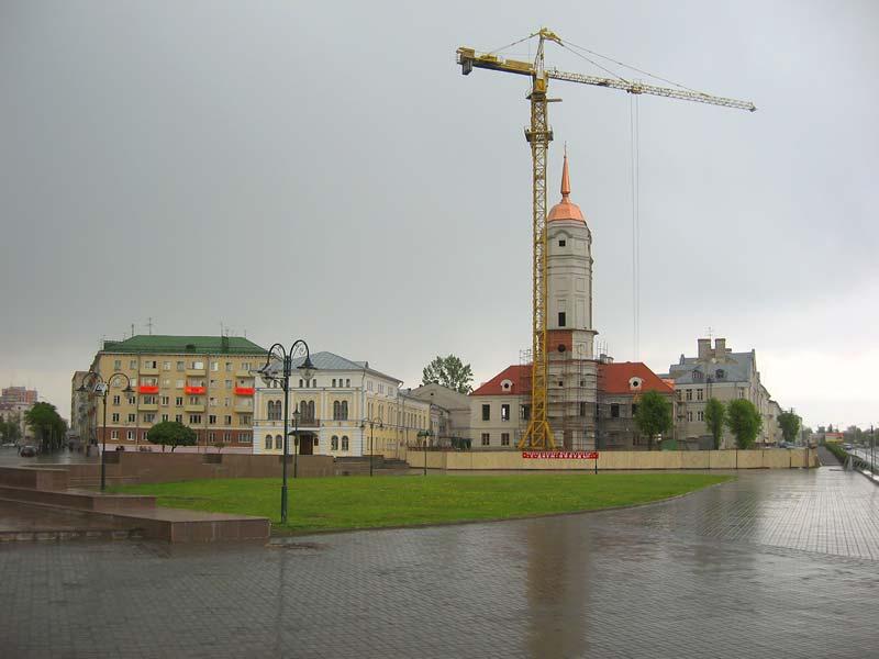 Магдебургское право.  Ратуша в Могилеве.  Фотографии .  Картинка.