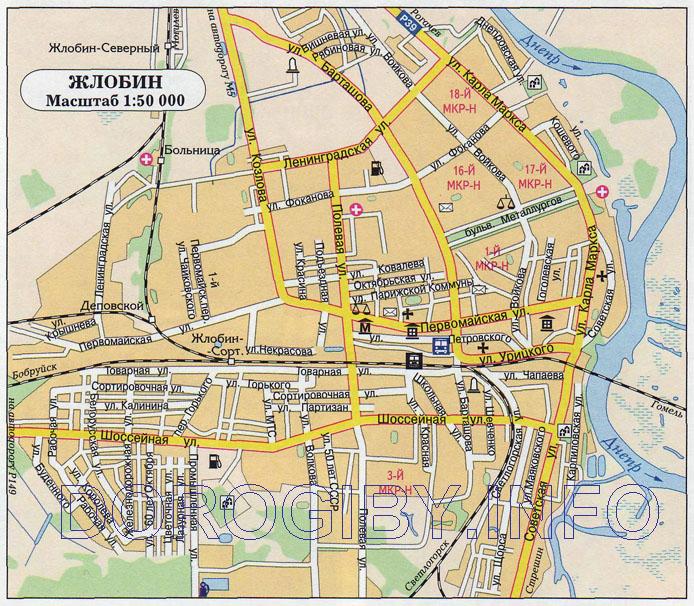 Карта Жлобина. Ул.
