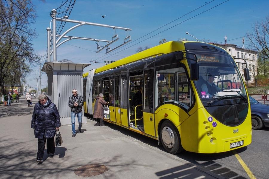 Белорусский электробус. Фото.