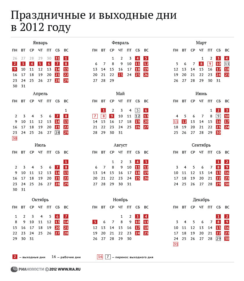 Народный календарь на месяц