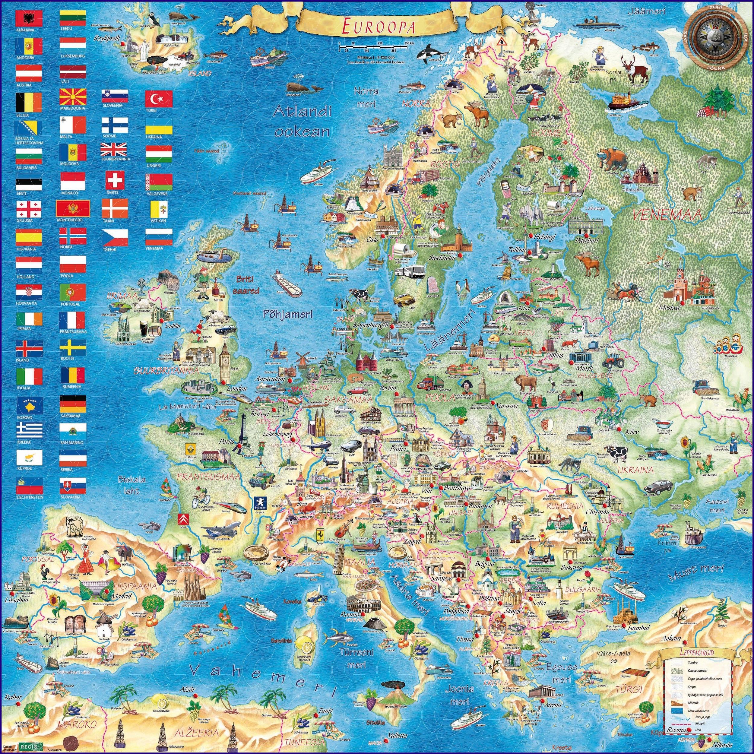 Karta Dostoprimechatelnostej Evropy Skachat Kartu Turisticheskaya