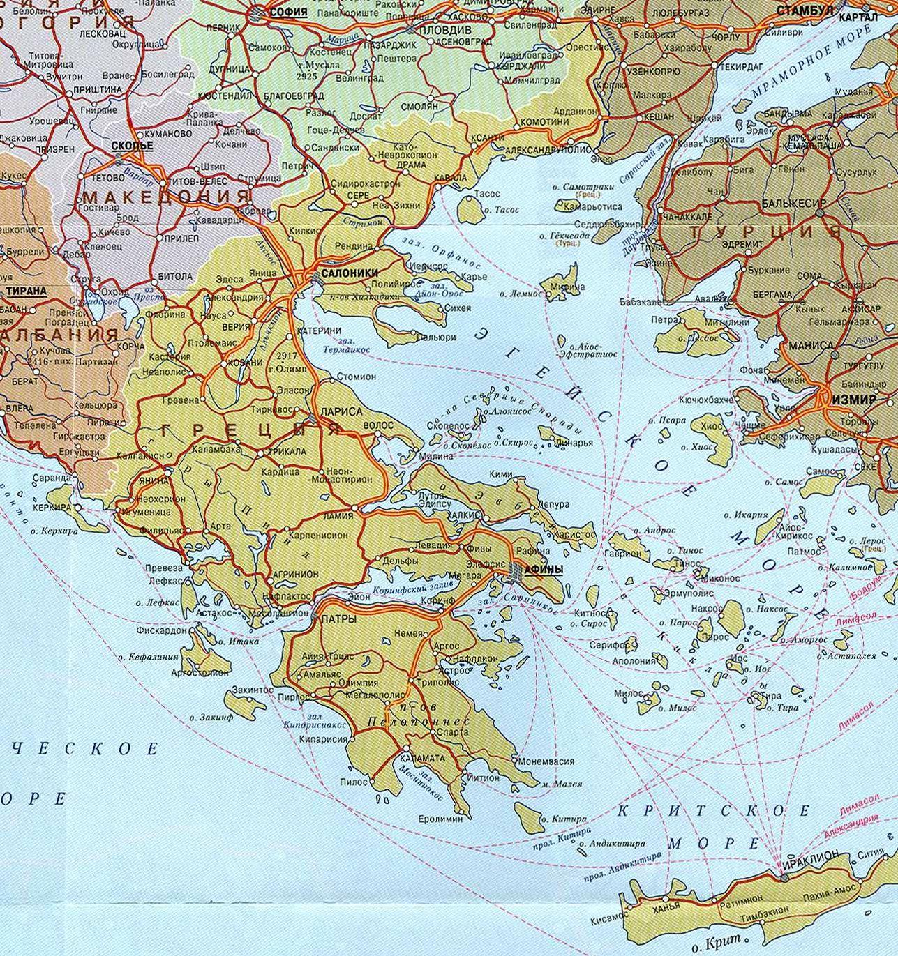 Где находится Греция Карта Греции Скачать карту Греции Курорты  Карта Греции Где находится Греция