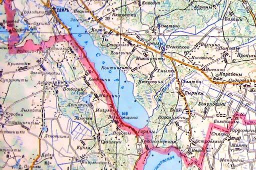 Где находится река припять на карте