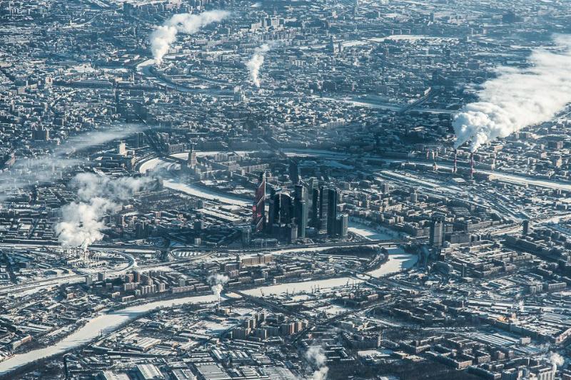 Москва сити на панораме москвы фото