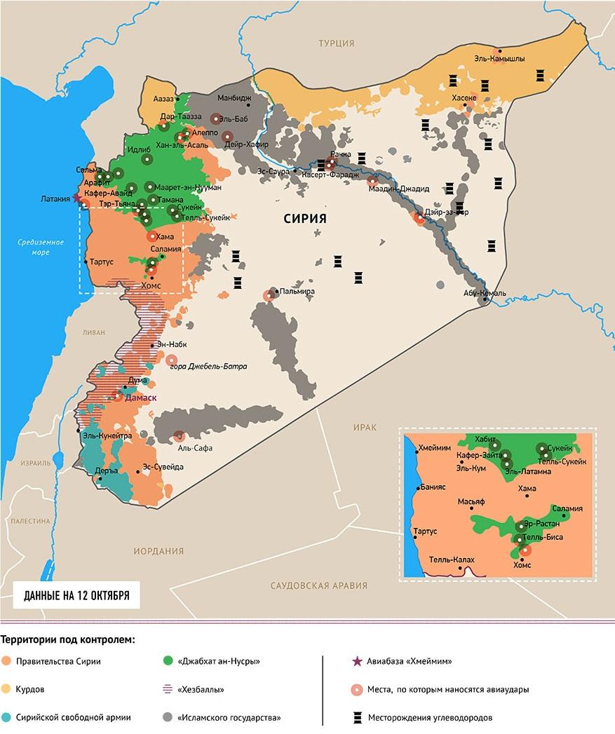 Какие территории контролируют правительственные войска в Сипии