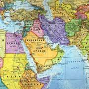 Фото. Карта Ближнего востока
