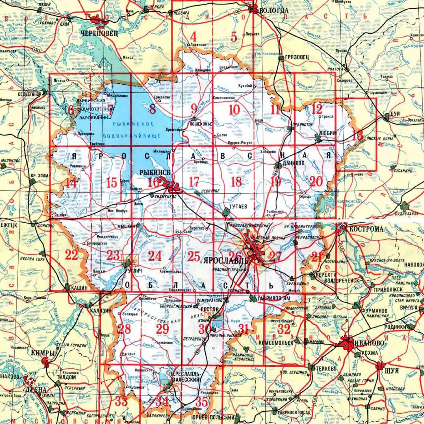 Ярославль где находится на карте