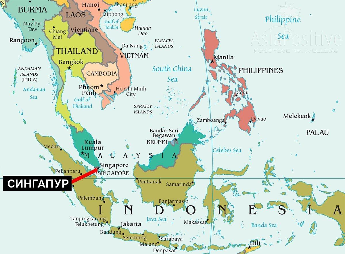 Karta Singapura Gde Nahoditsya Pokazat Singapur Na Karte Mira