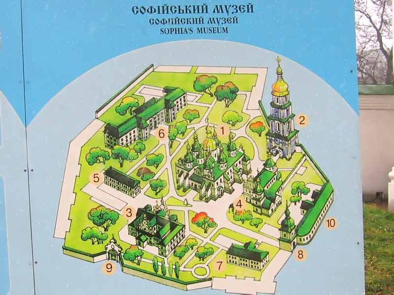 План-схема Софийского музея.