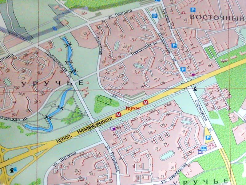 Стройрынок в Уручье на карте