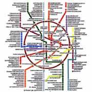 Карта центра Москвы. Студия ЛУВР