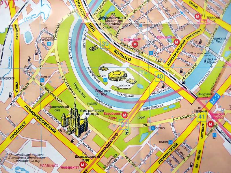 на карте Москвы. Фото