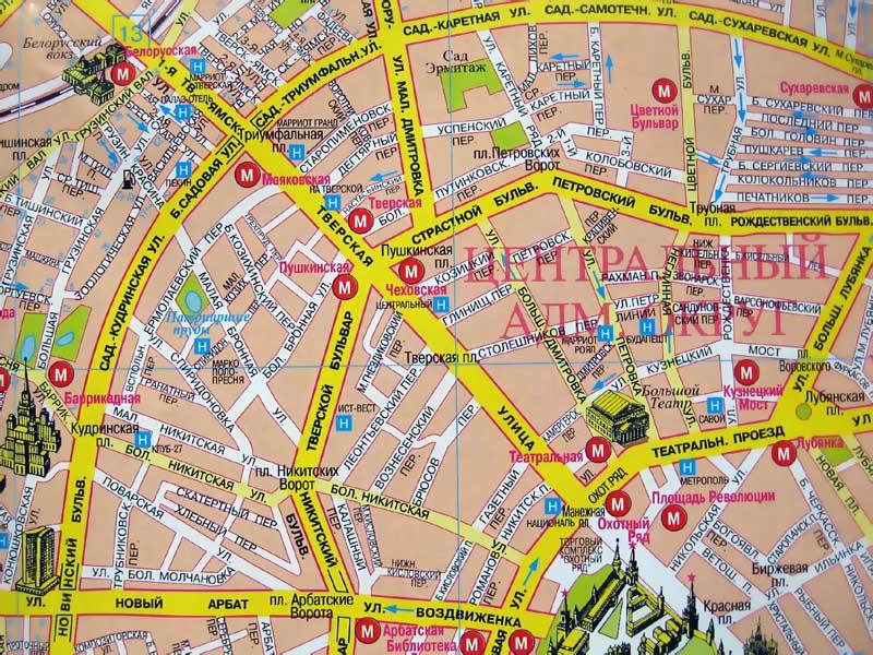 При создании странички использован фрагмент карты издательства.  Москва.  Железнодорожные вокзалы Москвы.