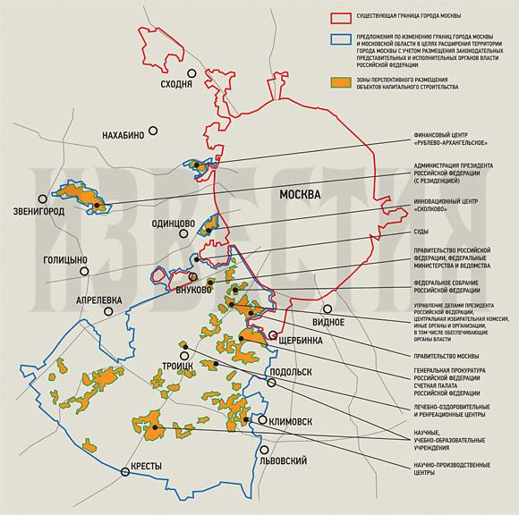 >Сколково на карте Москвы.