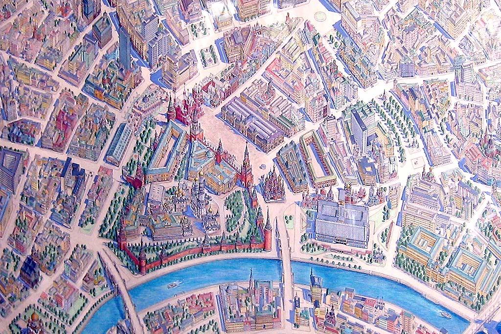 Туристическая карта Москвы.
