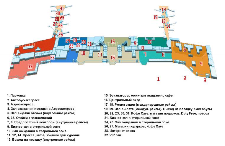 Схема московской аэропорт