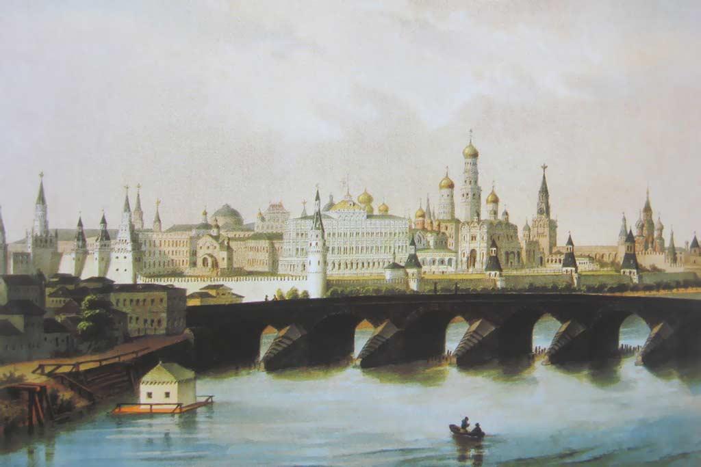 Москва река москва картины русских