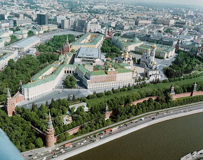 Панорама Московского кремля
