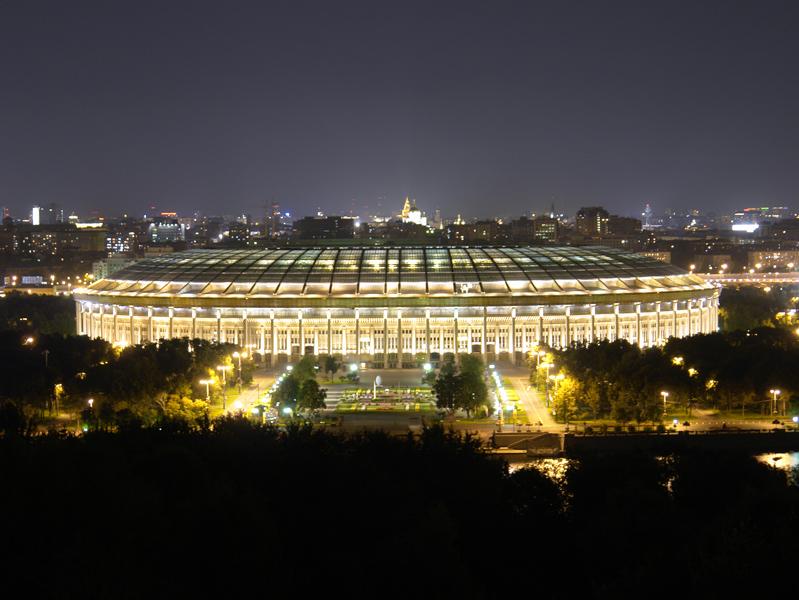 Стадион Лужники в Москве.