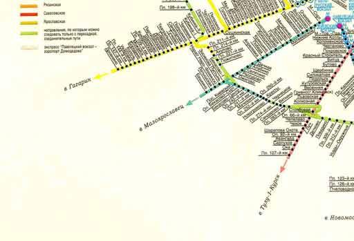 Карта электричек москвы