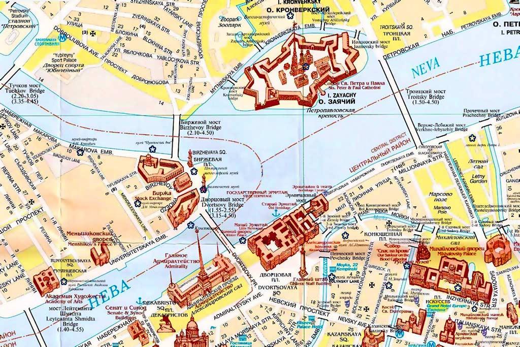 Сайт про Петербург. Карта