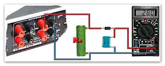 Схема измерения мощности.