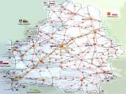Карта автодорог Беларуси