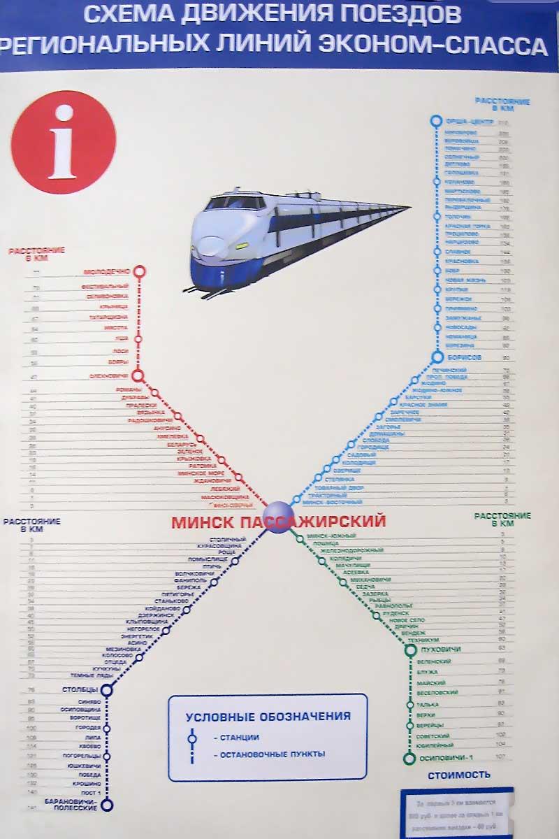цены предложения рассписание поездов отт минск поссажирский низким ценам