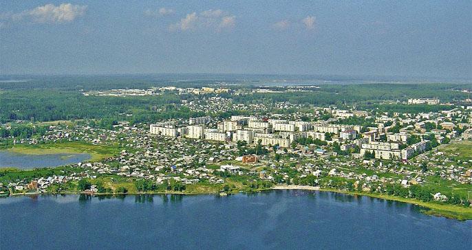 Город Чебаркуль.  План долины