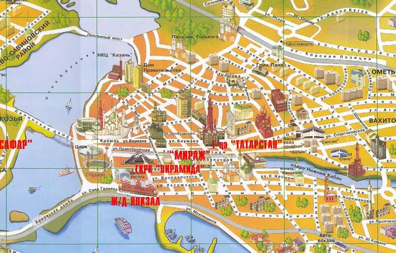 Карта Центра Казани