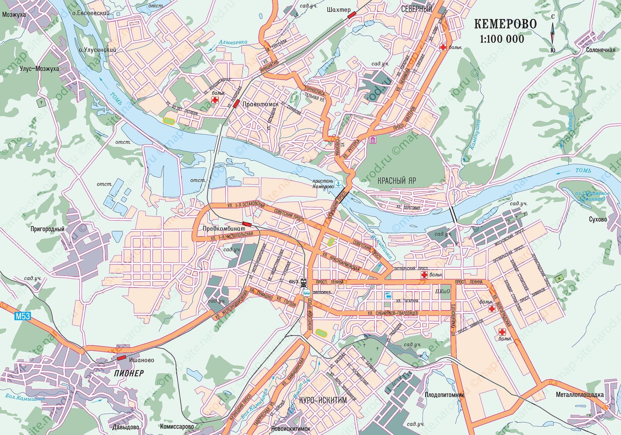 Фото карта кемерова карта центра