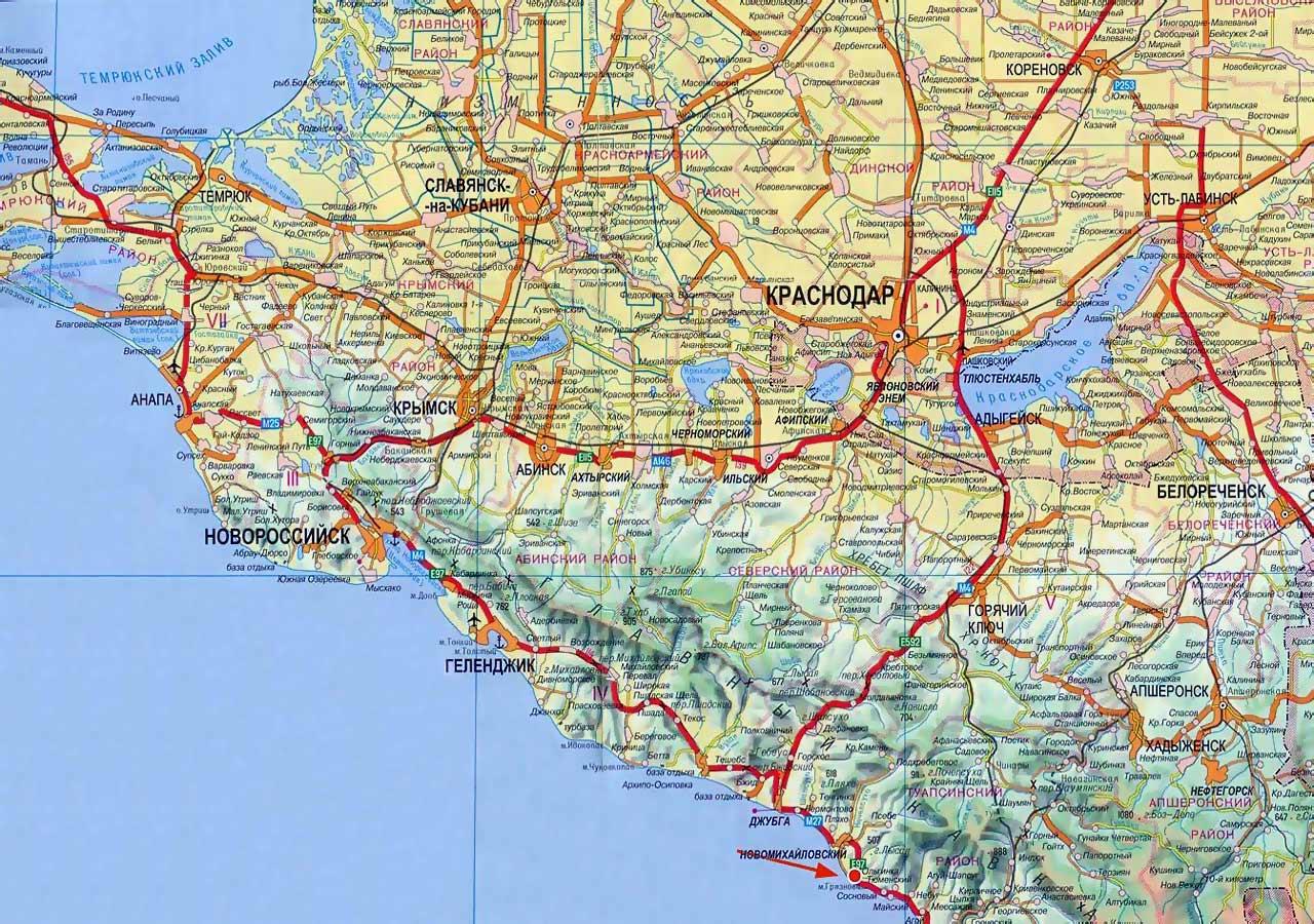 Карта дорог Кубани фото. Карта Кубани ...: www.nemiga.info/rossiya/krasnodar/kuban.htm