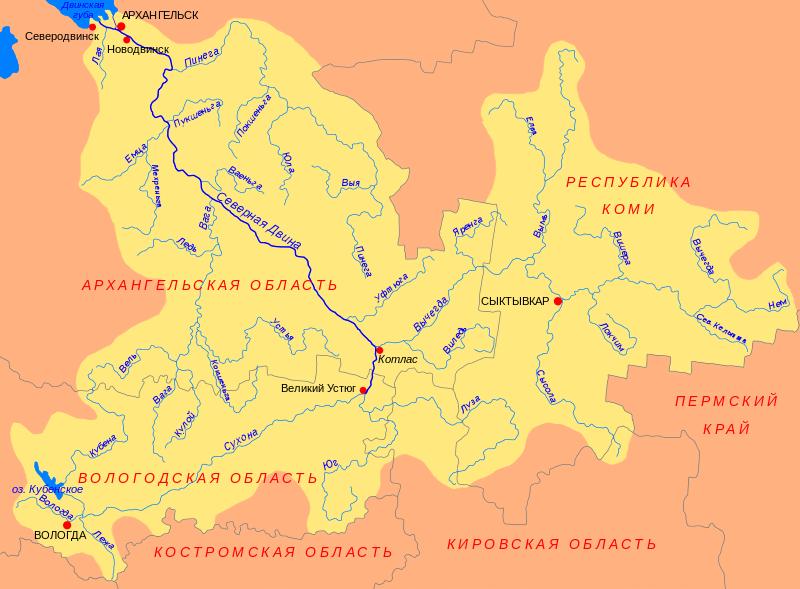 Карта Река Северная Двина. Города на Северной Двине ...: http://www.nemiga.info/rossiya/reka/reka_severnaya_dvina.htm
