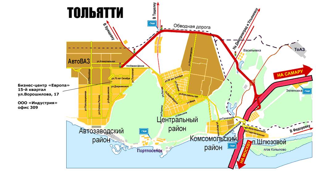 Карта районов города