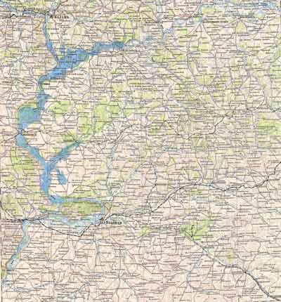 Карта Волги 19 века. Ищем село Ширяев Буерак