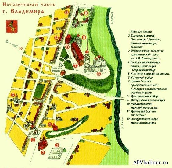 Историческая часть Владимира.