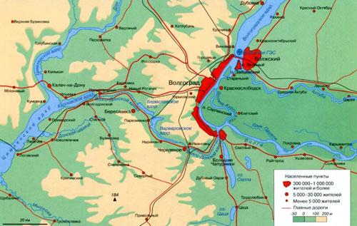 фото. Карта Волго-Донского канала